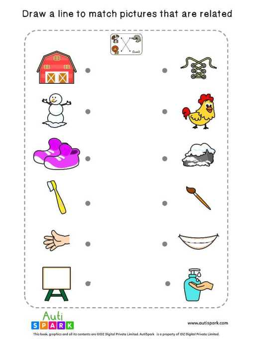 Free Picture Matching Worksheet - Match Associated Pictures-10