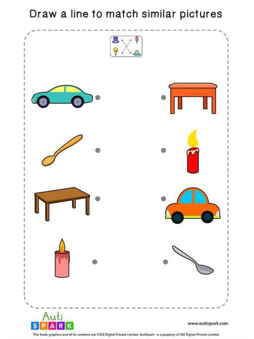 Matching Pictures Free Worksheet #09 – Match Similar Images