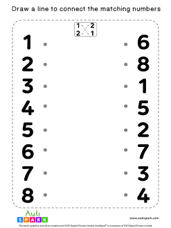 Match The Numbers Worksheet - Free Matching #10