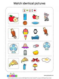 Matching Pictures Free Worksheet - Circle The Same Pictures #11