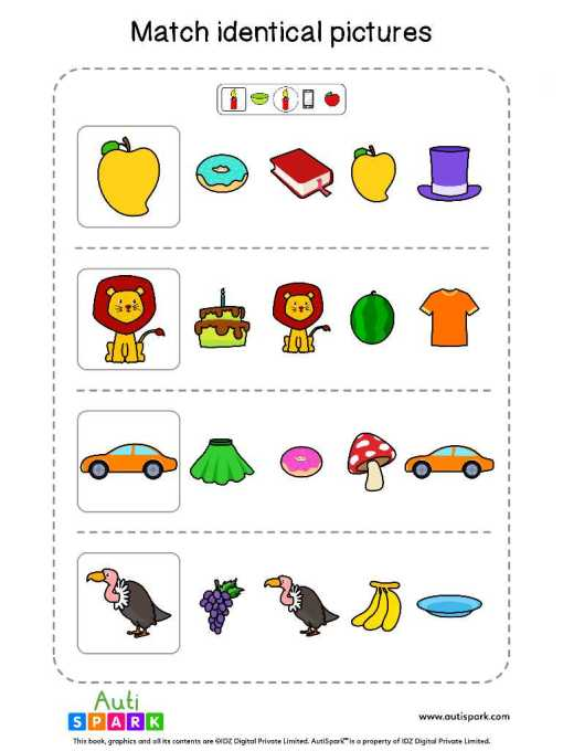 Matching Pictures Free Worksheet - Circle The Same Pictures #19