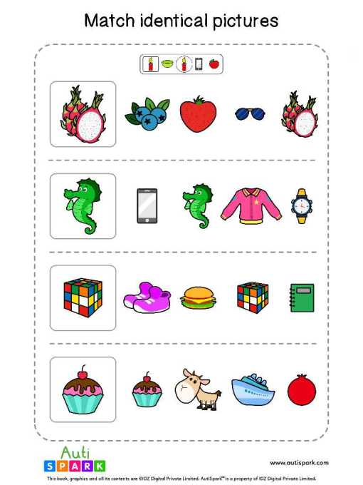 Matching Pictures Free Worksheet - Circle The Same Pictures #21