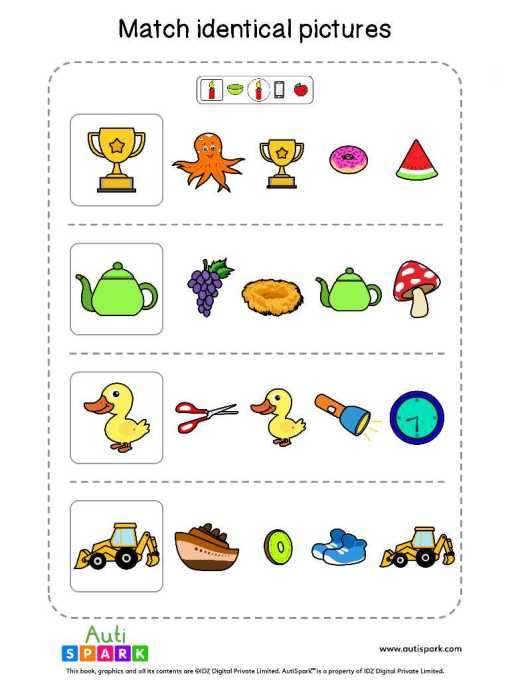 Matching Pictures Free Worksheet - Circle The Same Pictures #22