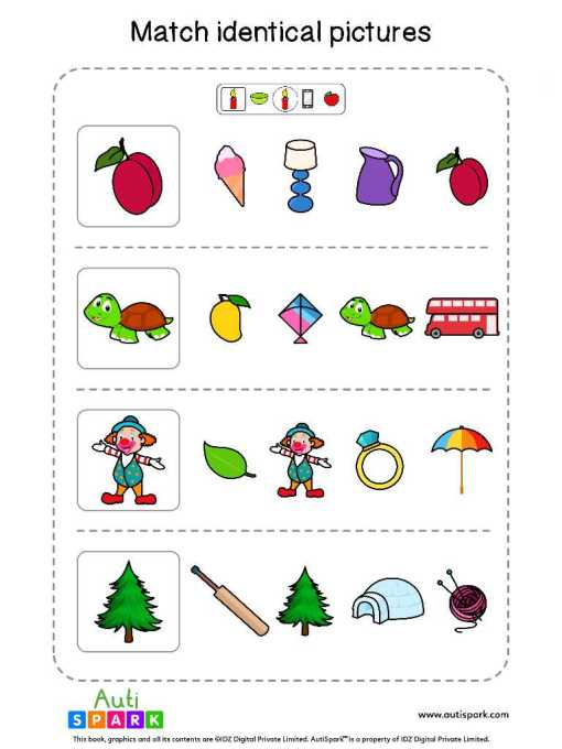 Matching Pictures Free Worksheet - Circle The Same Pictures #23