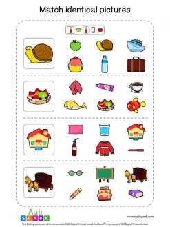 Matching Pictures Free Worksheet - Circle The Same Pictures #4