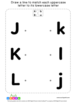 Match Uppercase To Lowercase Letters #04 - Matching Worksheet