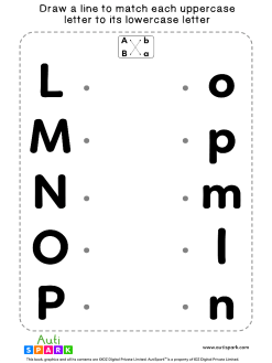 Match Uppercase To Lowercase Letters #06 - Matching Worksheet