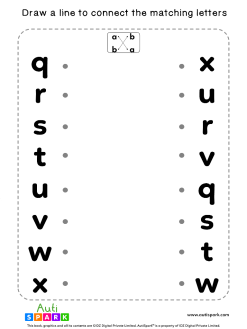 Match Lowercase Letters #10 - Free Matching Worksheet