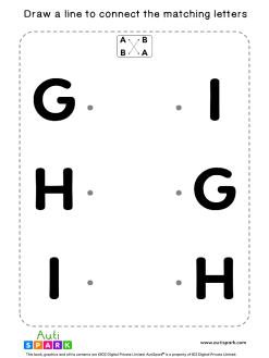 Match Uppercase Letters #03 - Free Matching Worksheet
