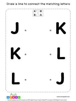 Match Uppercase Letters #04 - Free Matching Worksheet