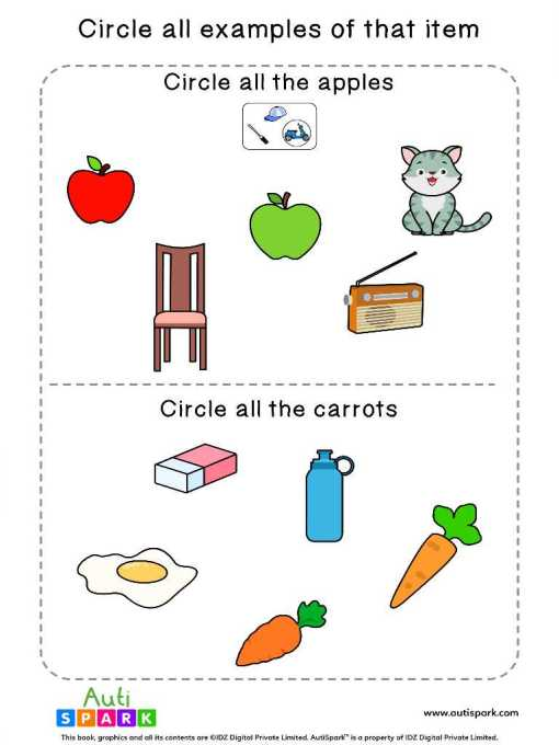 Circle The Fruits And Vegetables 6