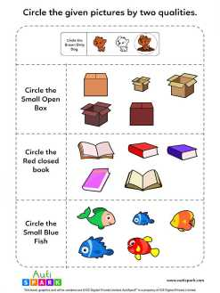Identify Pictures By Two Qualities - Fun Worksheet #2