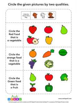Identify Pictures By Two Qualities - Fun Worksheet #3