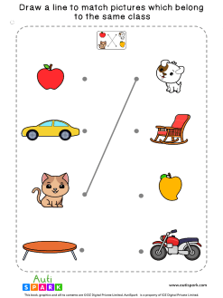 Match Pictures By Class #01 – Matching Worksheet