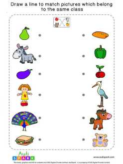Match Pictures By Class #7 – Fun Matching Worksheet
