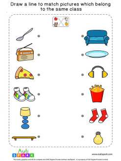 Match Pictures By Class #08 – Fun Matching Worksheet