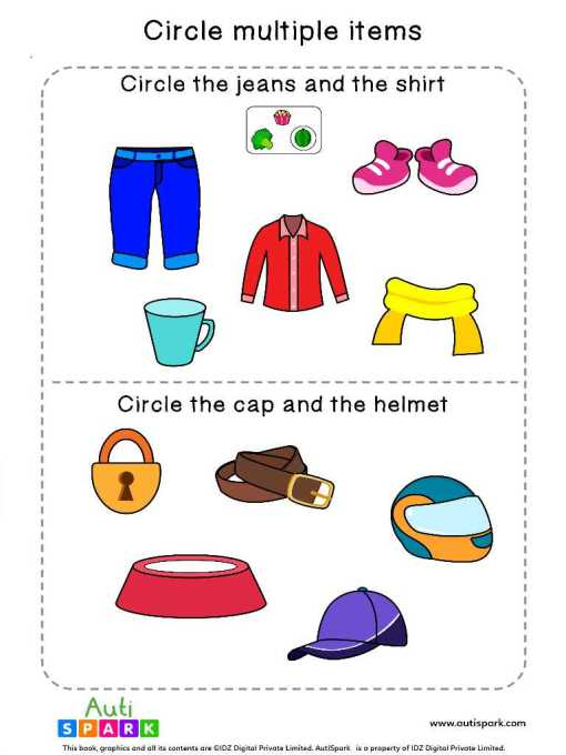 Circle & Identify Objects #05 – Best Sorting Worksheet