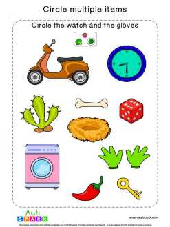 Circle & Identify Objects #07 – Best Sorting Worksheet
