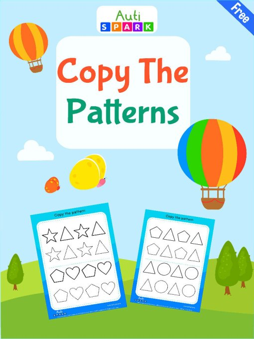 Copy The Shape Patterns – Tracing Workbook 1