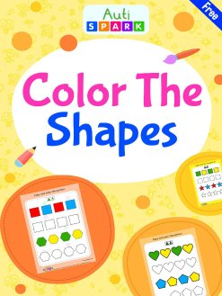 Match Color Patterns – Free Shape Coloring Workbook : 1