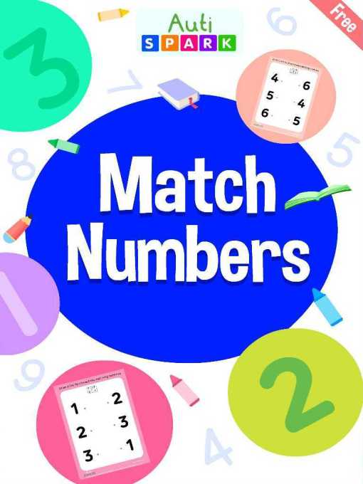 Match The Numbers – Free Matching Workbook : 1