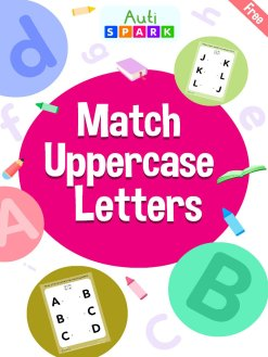 Match Uppercase Letters – Free Matching Workbook : 1
