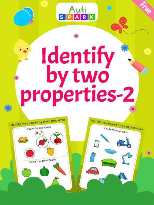 Best Matching Pictures – Identify By Two Properties Workbook : 2