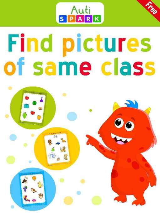 Free Image Sorting Workbook - Sort By Class : 1