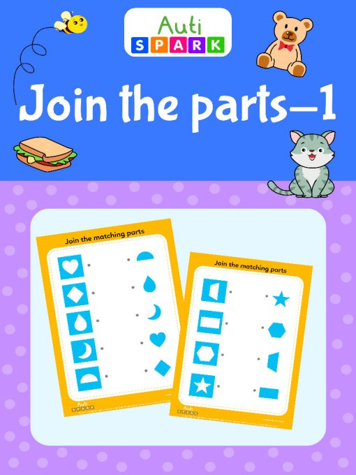 Best Shape Matching Worksheet - Join The Right Parts : 1 Activity Workbook