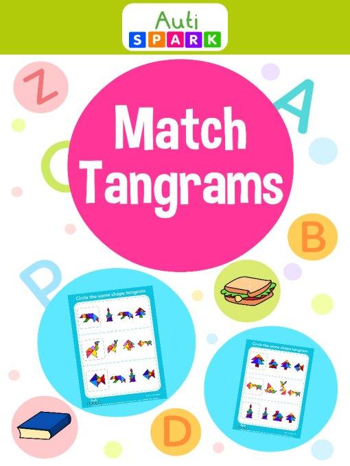 Best Shape Matching Workbook - Match The Same Tangrams : 1