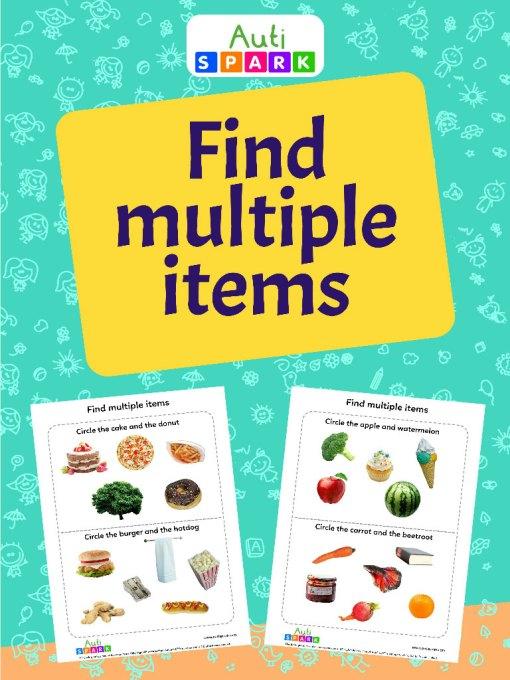 Circle Multiple Items – Sorting Workbook