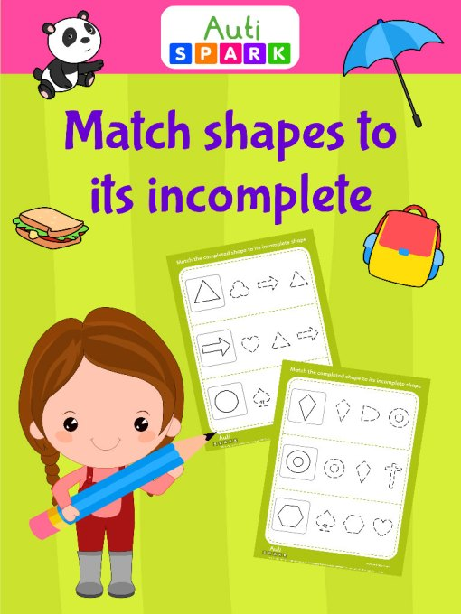 match shapes to its incomplete jpeg