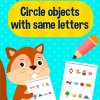 Circle Objects With Same Letters Activity Workbook