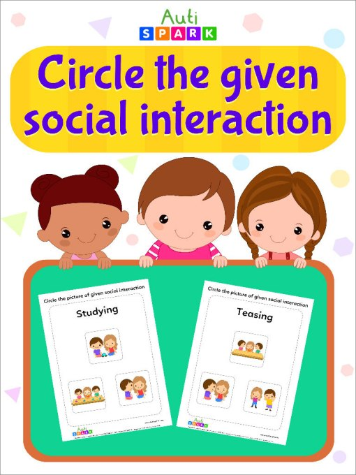 Circle Pictures With The Same Social Interaction Activity Workbook