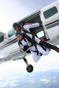 Yes, this is me. Yes, I'm skydiving. Yes, I was scared. Yes, I did it anyway. And no, I'm not afraid of skydiving anymore.