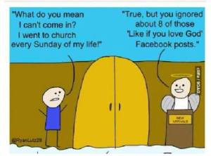 Being a Christian, I think this picture sums it up for me quite nicely. Sometimes, we rely on social media too much for self-expression, and it comes at the cost of some of us doing less in real life because of it.