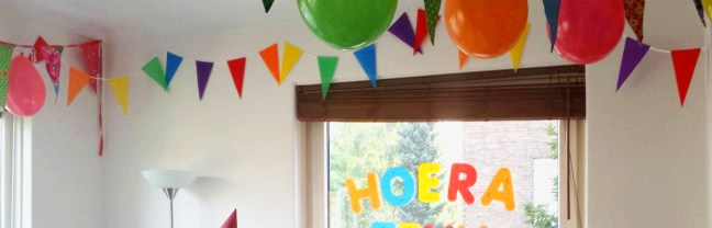 Hoera! (Hurrah in Dutch) - picture by my sister-in-law