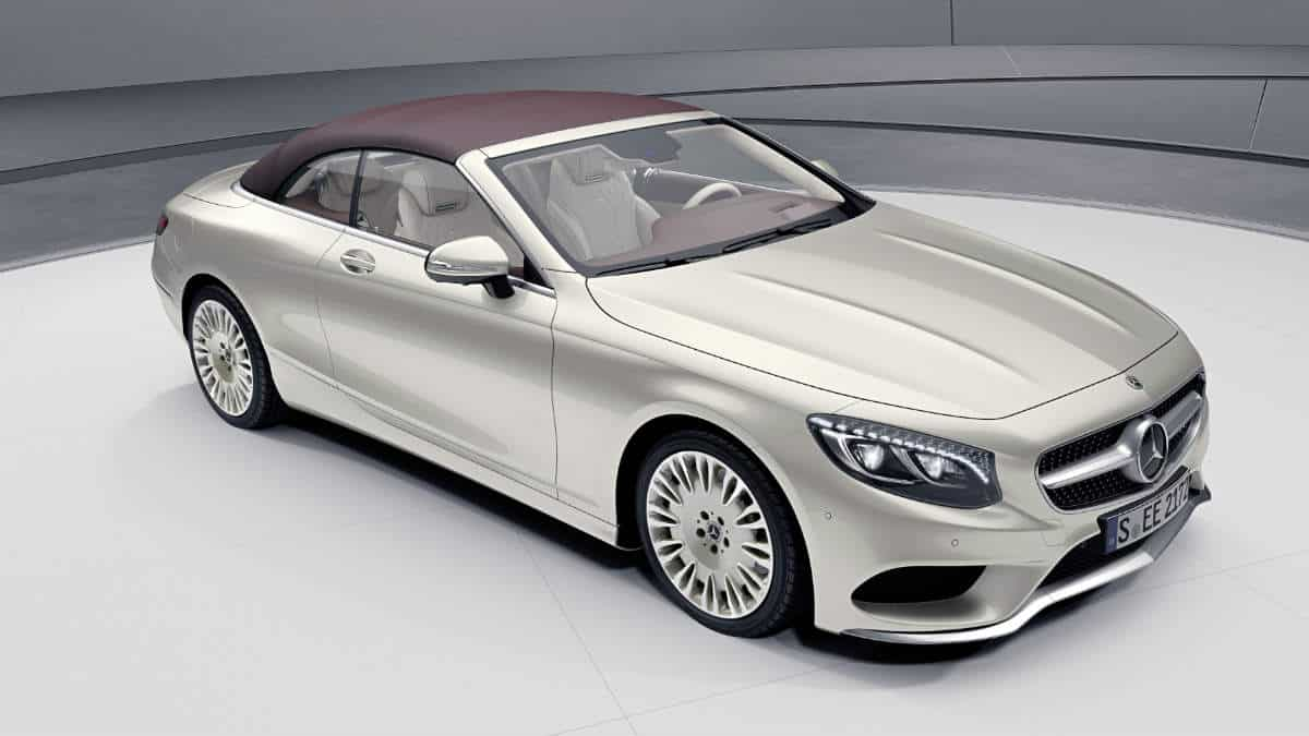 LUXURY CAR MERCEDES S CLASS CABRIO