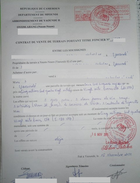 certificat vente