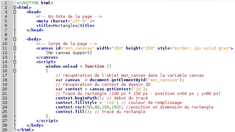 exemple de code javascript