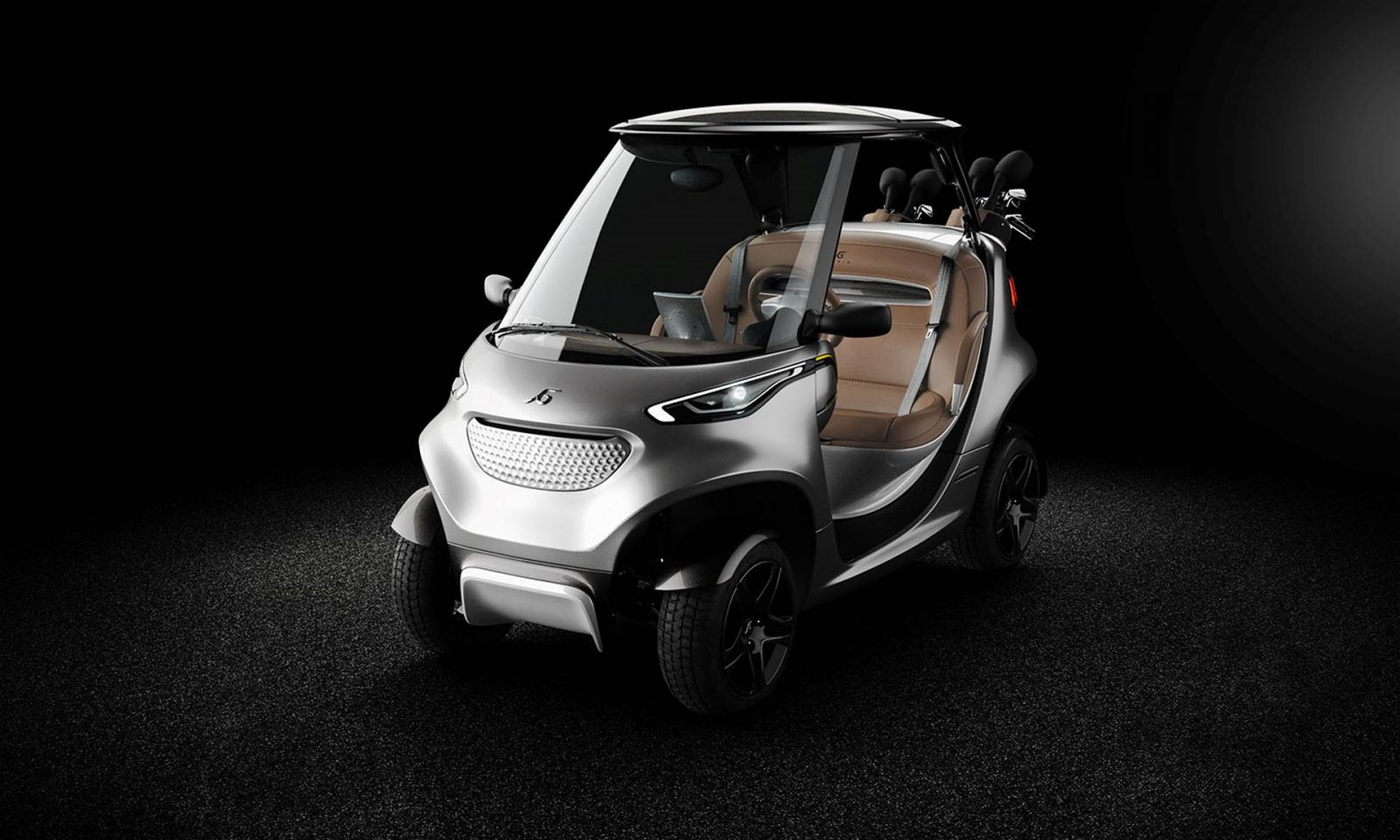 Garia_Golf_Car_Inspired_by_Mercedes-Benz_Style_front_grey_01-1