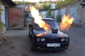 Totální úlet! V Rusku implementovali proudový motor ze stíhačky do BMW