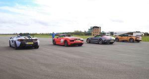 Audi R8-BMW-i8-McLaren-570S-Mercedes-AMG-GT-C-sprint-video