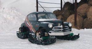 gymkhana-gaz-pobeda-snehove-pasy-video