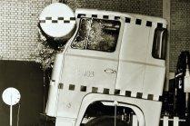 Scania - historické testování bezpečnosti kabiny