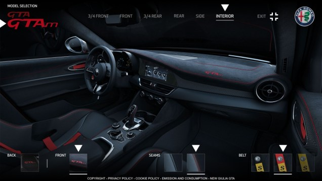 Alfa Romeo Giulia GTAm - konfigurator 5