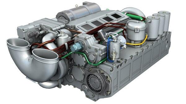 Танковый оппозитный двигатель 5ТДФ