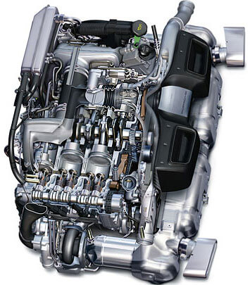 Оппозитный двигатель Porsche 997