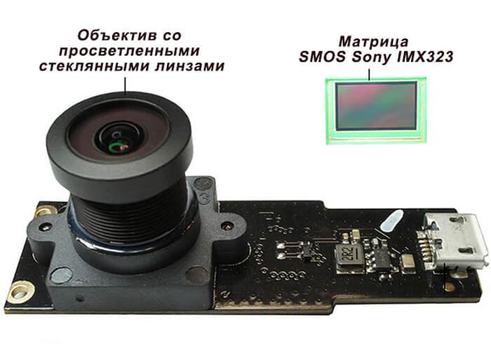 Объектив и матрица видеорегистратора