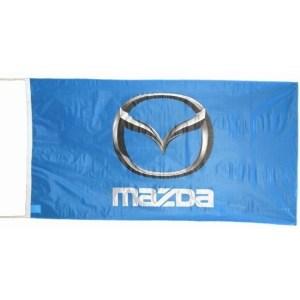 Logo vlag Mazda blauw 150 x 75 cm